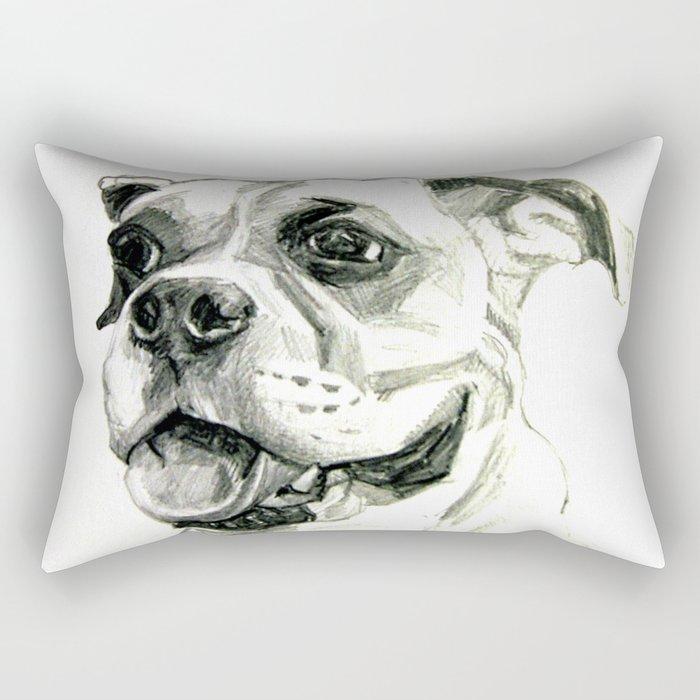Smiling Boxer Boy Oscar Rectangular Pillow