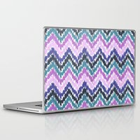 ikat Laptop & iPad Skins featuring Ikat Chevron by Noonday Design