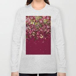 Purple drooping flowers Long Sleeve T-shirt