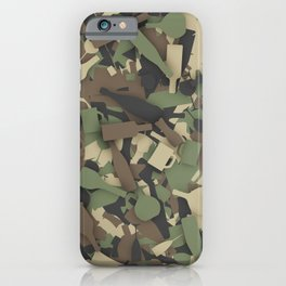 Forest alcohol camouflage iPhone Case