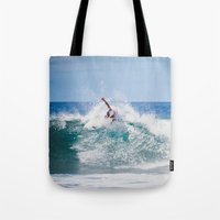 surfer Tote Bags featuring Surfer by Carmen Moreno Photography