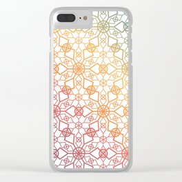Rainbow Star Trellis Clear iPhone Case