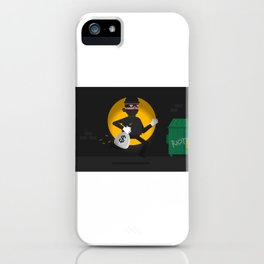 Running With The Loot iPhone Case
