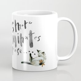 Sleepy morning cat Coffee Mug