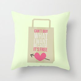 can't buy Throw Pillow
