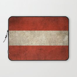 Old and Worn Distressed Vintage Flag of Austria Laptop Sleeve