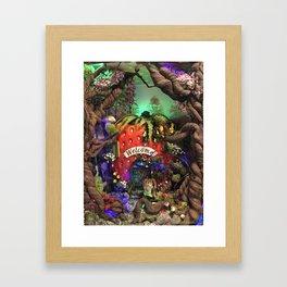 "9"" x 8"" strawberry bunny Framed Art Print"