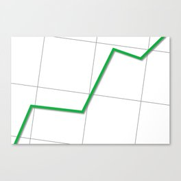 Statistic Up Canvas Print