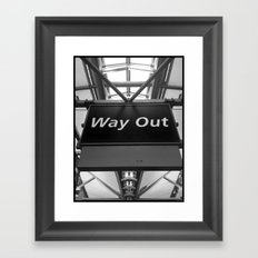 Way Out Framed Art Print