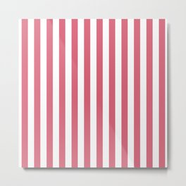 Large Nantucket Red and White Cabana Tent Stripes Metal Print