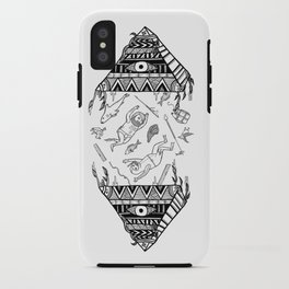 On how the mystical levitation of divers are induced by floating pyramids iPhone Case