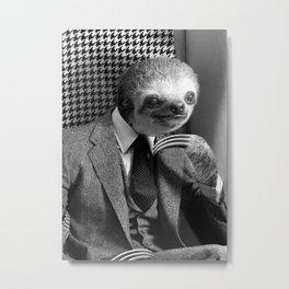 Gentleman Sloth in fancy armchair Metal Print