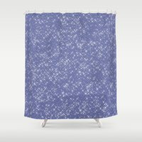 sparkles Shower Curtains featuring Purple Sparkles by Zen and Chic
