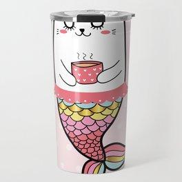 Mermaid Cat Travel Mug