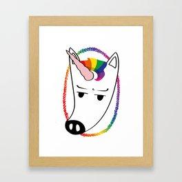 Unicorn sucks Framed Art Print