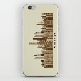 Pittsburgh skyline vintage iPhone Skin