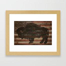 American Bison Framed Art Print