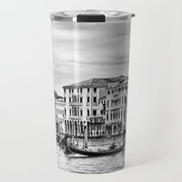 Gondola and tourists in Venice Travel Mug
