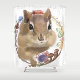 Hipmunk Shower Curtain