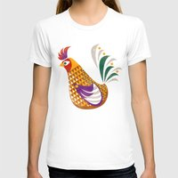 rooster T-shirts featuring Rooster by Jackie Sullivan