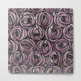 rose designer pattern Metal Print