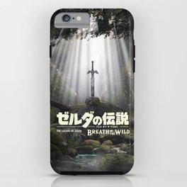 Master Sword in Ruins Zelda Poster iPhone Case