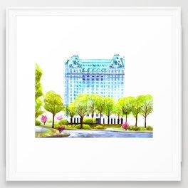 the plaza Framed Art Print