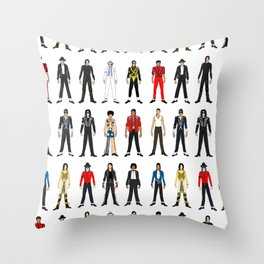 King MJ Pop Music Fashion LV Throw Pillow