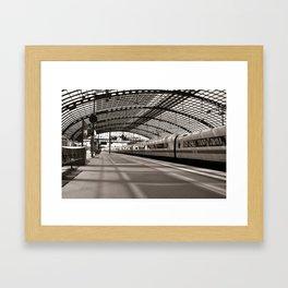 Train-Station of Berlin Framed Art Print
