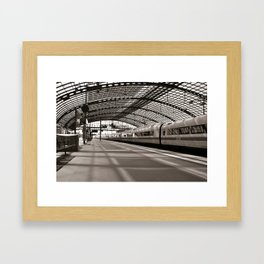 Train-Station of Berlin Framed Art Print