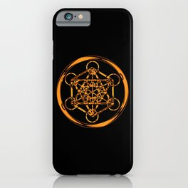 Metatron Cube Gold iPhone Case