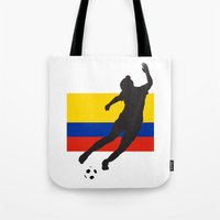 colombia Tote Bags featuring Colombia - WWC by Alrkeaton