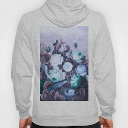Teal Roses Blue Birds : Temple of Flora Hoody