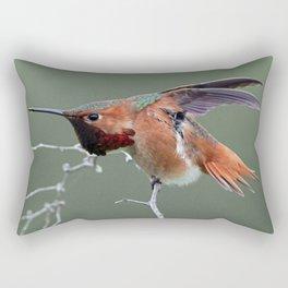 Hummingbird Yoga Rectangular Pillow