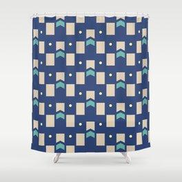 Art Deco Geometric Pattern 272 Shower Curtain