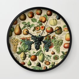 Adolphe Millot- Vintage Fruits Wall Clock