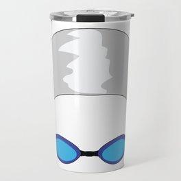 Swim Cap and Goggles Travel Mug