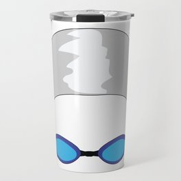 Swim Cap and Goggles Travel Mug