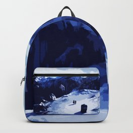 Tardis Art At The Snow Mountain Backpack