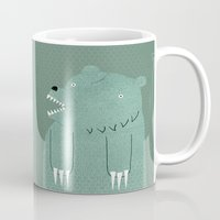 bear Mugs featuring Friendly Bear by Sarajea