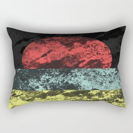 Sunset Beach - Abstract, marble effect, geometric painting Rectangular Pillow