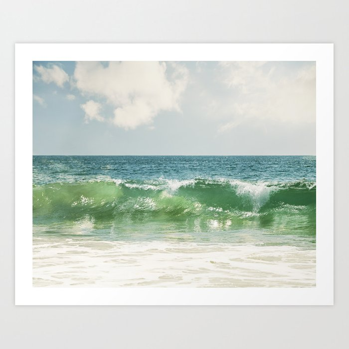 WAVES SEA OCEAN Art Print Poster Blue Green Surf Seascape A4 A3 A2 Sizes Picture