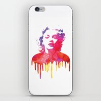 marilyn iPhone & iPod Skins featuring Marilyn by Fimbis