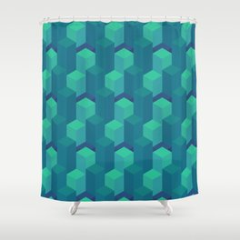 Seafoam Isometric Shower Curtain