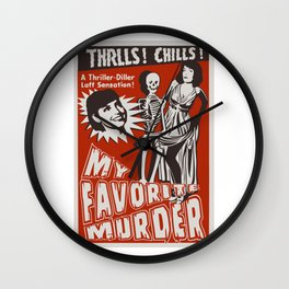 THRLLS AND CHILLS Wall Clock