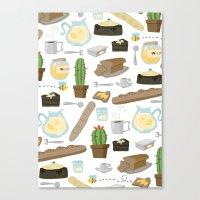 bread Canvas Prints featuring Bread by Ceren Aksu Dikenci