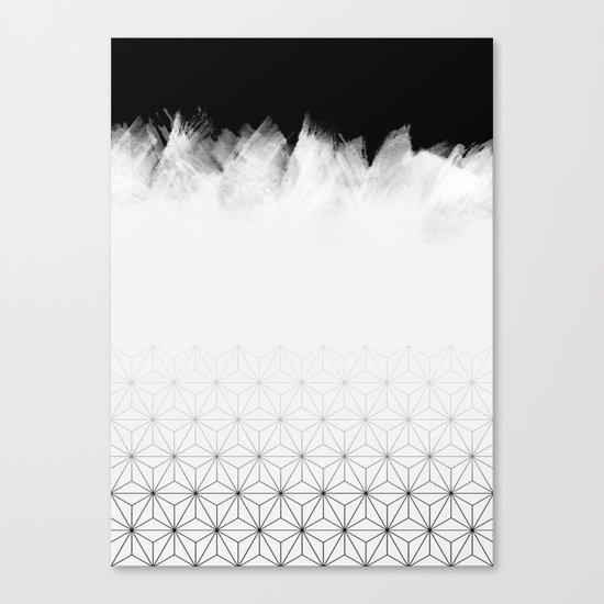 Christmas Geometric Pattern Canvas Print