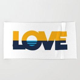 LOVE - People's Flag of Milwaukee Beach Towel
