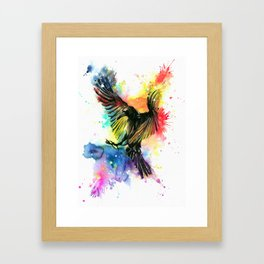 The colourful crow Framed Art Print