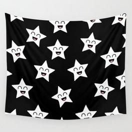 Happy Stars Wall Tapestry